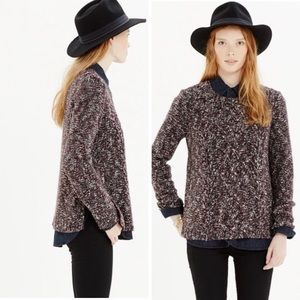 Madewell Firelight Pullover Wool Alpaca Marled Cable Knit Sweater Style# A9474